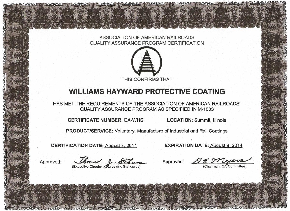 Certyfikat-AAR-M-1003