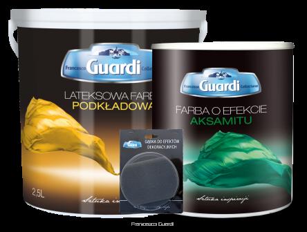 Farba o efekcie aksamitu Guardi (zestaw) 1